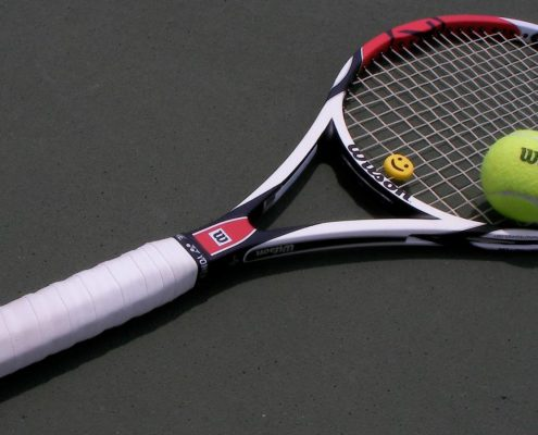 grip of a tennis racket
